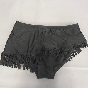 Swimsuits For All Swim - Black Swim Skirt with Fringe